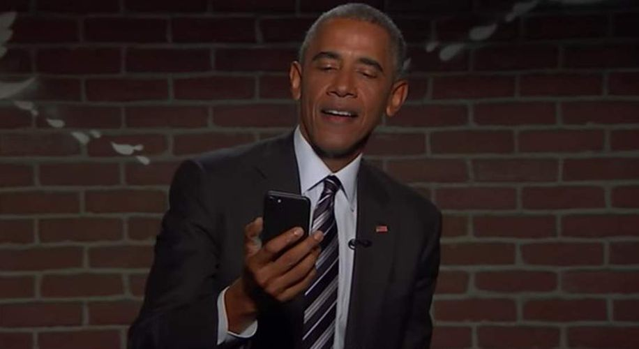 "Barack Obama Reads ""Mean Tweets"" on Jimmy Kimmel Live!, Proceeds to Roast Trump"