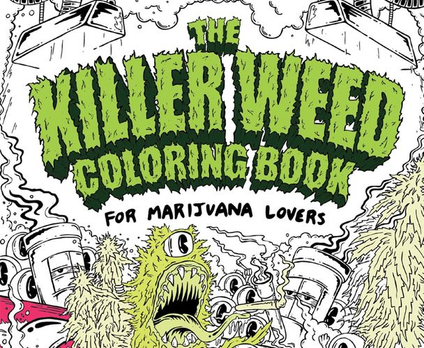 Meet the Artist Behind the Trippiest Weed Coloring Book for Adults