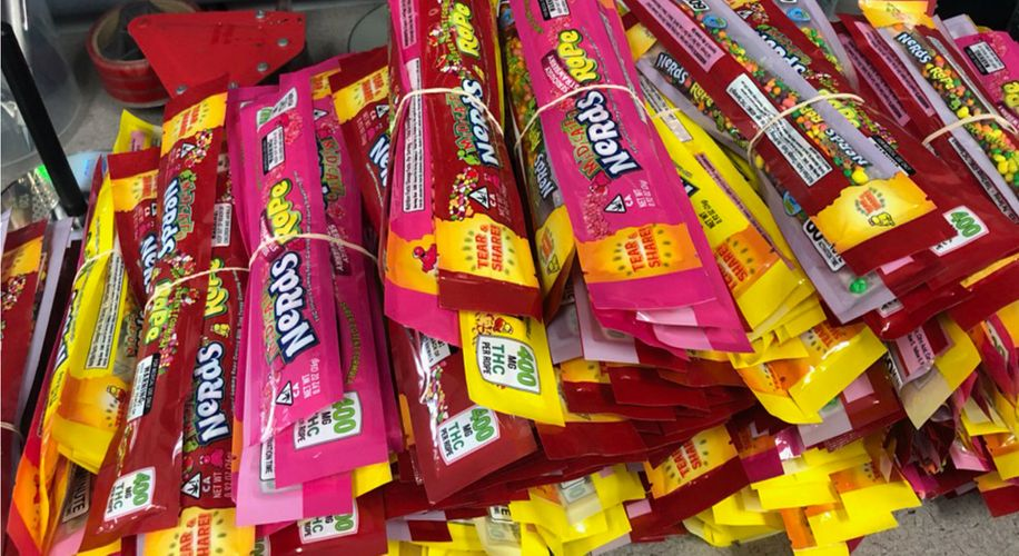 California Police Raid Turns Up 500 Pounds of Weed-Infused Nerds Rope
