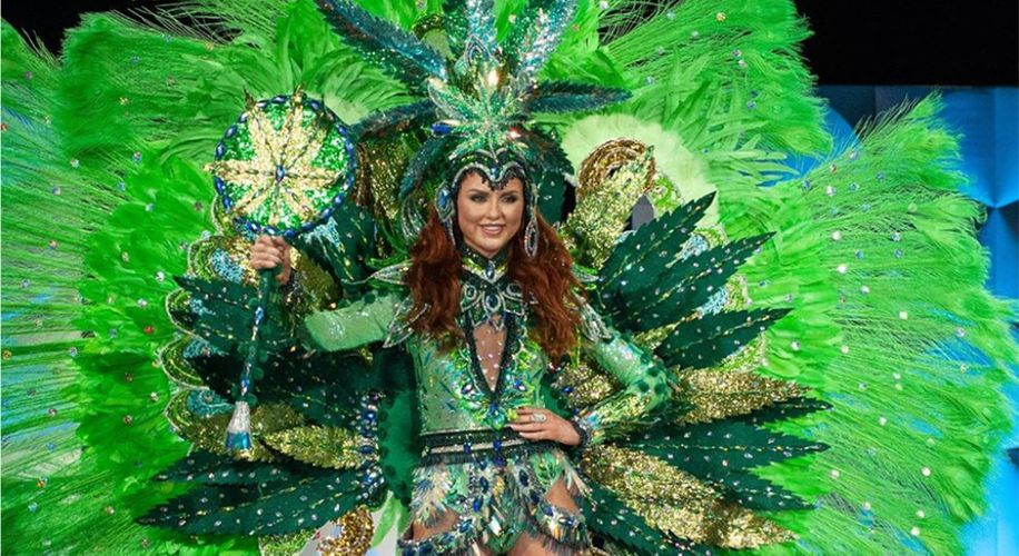 Miss Universe Canada Rocked a Weed Gown During International Beauty Pageant