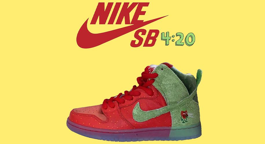 """Check Out Leaked Photos of Nike's New """"Strawberry Cough"""" Sneakers for 4/20"""