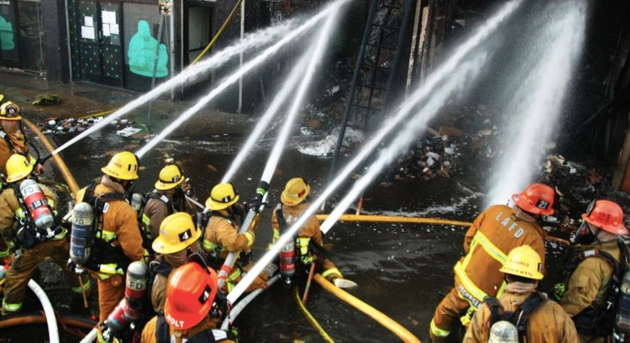Hash Oil Explosion in LA Injures 11 Firefighters and Destroys Fire Truck