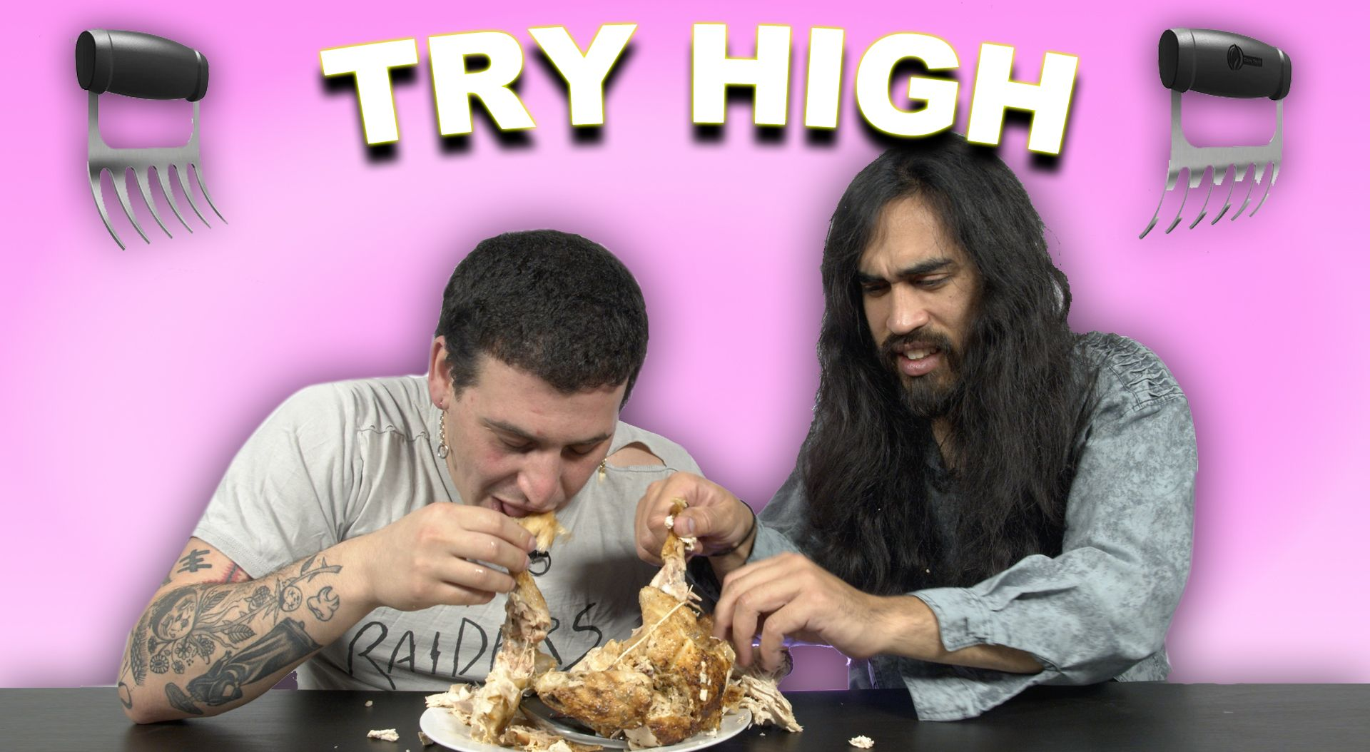 Dalton & Makal Tear Into a Rotisserie Chicken Like Lit Bears | TRY HIGH