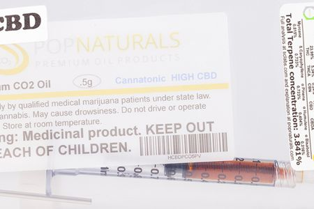 PopNaturals CO2 Oil Syringe - High CBD