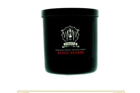 Wow Medicated Topical Massage Candle - Blood Orange